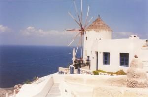 Windmühle Santorini