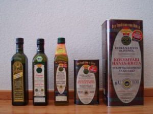 Die Auswahl an Olivenölen