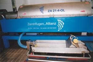 Eine Dekanter Zentrifuge in der Ölmühle.