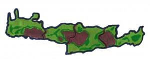 Kreta Karte mit den 4 Präfekturen