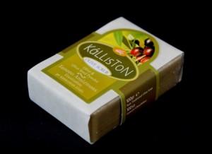 Seife mit Olivenoel und Olivenkern-Peeling